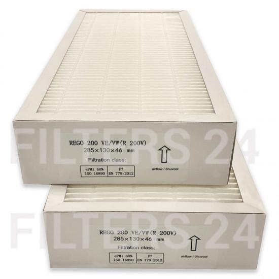 DOMEKT REGO 200 VE/VW (R 200 V) Filterset F7+F7