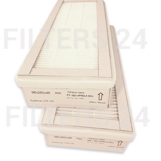 SYSTEMAIR SAVE VTR 100 FILTERSET NEW ART NR 212147+212148